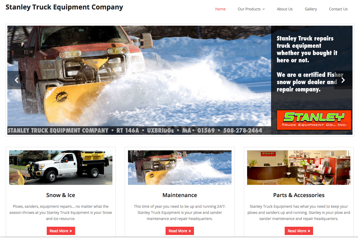 Stanley Truck Equipment Company website