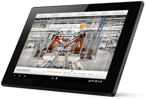 Tecnomatix 360 App on Android Tablet